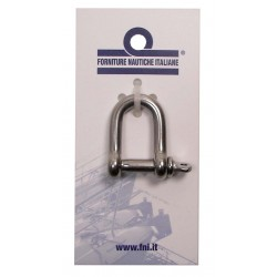 Shackle straight stainless steel AISI 316