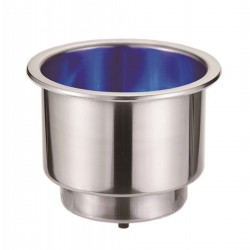 Glass holder and tin in stainless steel