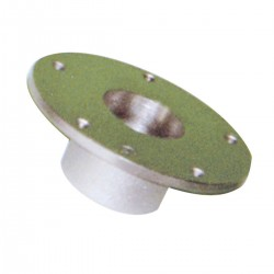 The Base of the upper and lower seat and table in anodized aluminium - Diameter Ø (mm.) 160