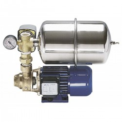 Pump water pressure system for the installation of more taps on large boats -