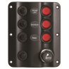 3-switch panel with cigar lighter