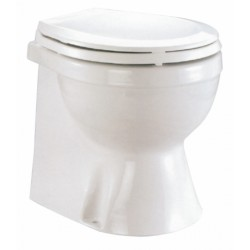 Electric marine WC in white porcelain with box - TMC