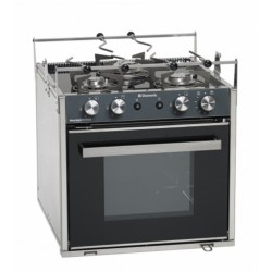 Gas oven with grill and hob with three burners