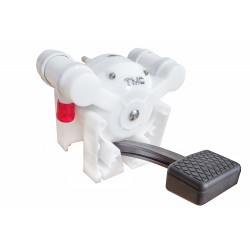 Foot pump for sinks and showers