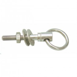 Eyebolt with ring, AISI 316 stainless steel complete with nut and washers