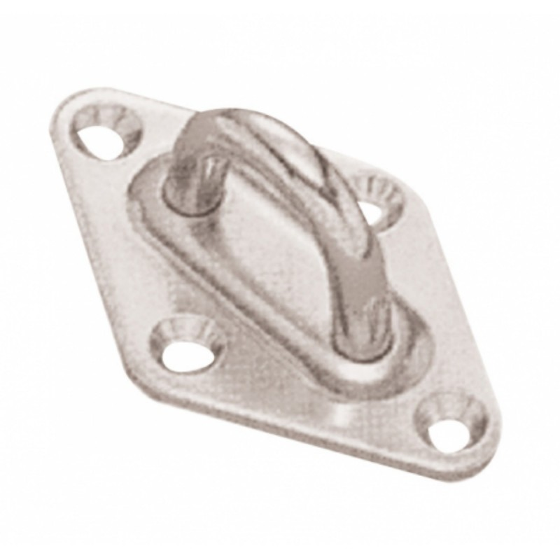 Stainless steel plate with u-bolt