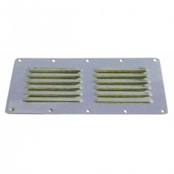 Air intake stainless steel - Dimensions: 230 x 115 mm.