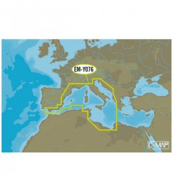 C-MAP MAX-N+ - the area of EM-Y076 coasts of South-East european