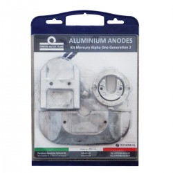 Kit anodes in aluminium for engines Mercruiser Alpha I Generation II